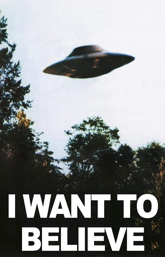 """Famoso poster de """"I want to believe"""" o """"Quiero creer"""""""